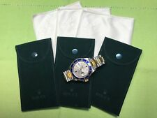 Genuine New Rolex service  Velvet travel Pocket Pouch and Cleaning cloth 3 Set