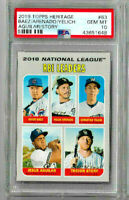 2019 Topps Heritage Baez/ Arenado/ Yelich/ Aguilar/ Story PSA 10