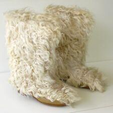 Paire de bottes à poils CHARMOZ - Modèle Ours frisé blanc - T38 - Vintage