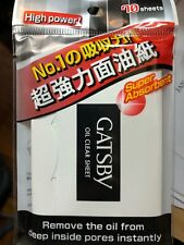 10 x Gatsby Oil Clear Sheet High power, super absorbent ( Film) 70 sheets