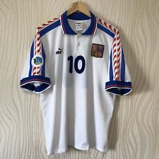 CZECH REPUBLIC 1996 AWAY FOOTBALL SHIRT SOCCER JERSEY PUMA #10