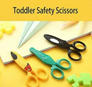 Kids Toddlers Safe Tip Paper Scissors Safety Craft Childern Plastic Scissors