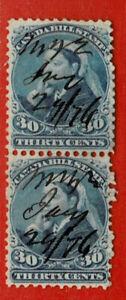 Canada Revenue 30-cent 3rd Issue Bill Stamps van Dam FB49 pair Catalog $3.00