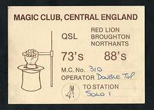 Dated 1985 QSL Radio Card - Illustrated - Magic Club - Red Lion, Broughton