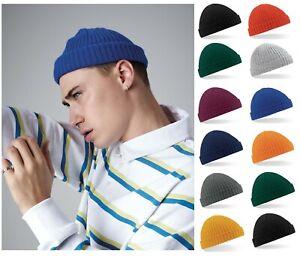 Mens Trawler Docker Beanie Knitted Fisherman Hat Retro Skull Hipster Style Cap