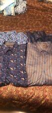 Luchiano Visconti Black Long Sleeve Flip Cuff Button Shirt Men's 2XL Lot of 4