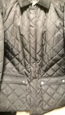 Polo Ralph Lauren Quilted Men's Large Barn Jacket - Black with Corduroy Collar