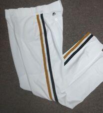PITTSBURGH PIRATES THROWBACK WHITE MAJESTIC PRO BASEBALL PANTS 32-42 WAIST