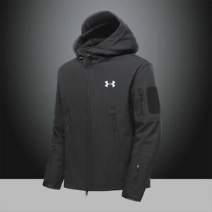Men's Autumn Under Armour Hoodie Hoody Hooded Sweatshirt Jacket Sports Coat #57