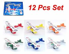 "PLANE DISPLAY SHOW FIGHT DOUBLE WINGS 5"" PULL BACK TO ACTION 12 Pieces Set"