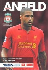 LIVERPOOL v READING 2012/13 MINT PROGRAMME