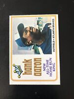 """1974 O-PEE-CHEE #1 HANK AARON """"HR KING""""— NEARLY IMPOSSIBLE💥*** (wph)"""