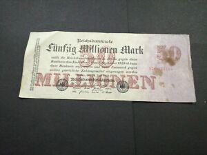 Germany 50 Million Marks 1923