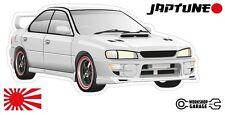 Subaru WRX Impreza  V1 - White with Black Rims - JDM - JapTune Brand