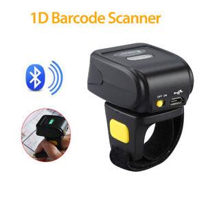 EYOYO Bluetooth Handheld Mini Ring Finger Barcode Scanner Reader Fr Android&iOS