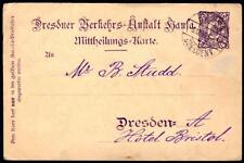 Germany/Dresden 1899 local 2pf Beehive card used