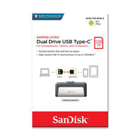 SanDisk 128GB Ultra Dual OTG TypeC USB3.1 Flash Drive On-The-Go for Phone 150MBs