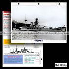 #017.01 Fiche Navire militaire HMS VALIANT Royal Navy 1914 Battleship WW1