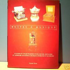 vintage MUSICAL BOX collectible illustrated BOOK / boîte à musique BOITE rétro