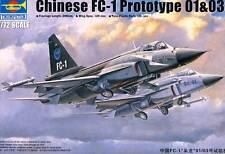 Trumpeter Chinese FC-1 Prototype 01 03 inkl.Ätzteile Modell-Bausatz 1:72 NEU OVP