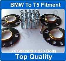 5mm HUBCENTRIC LEGA RUOTA SPACER KIT DI MONTAGGIO CON BULLONI BMW X5 per VW T5