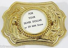 BELT BUCKLES casual dress western accessories SILVER DOLLAR COIN BUCKLE NWOT!