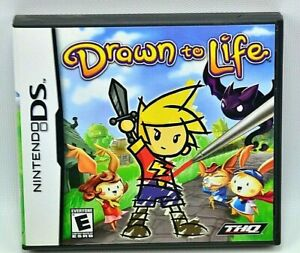 Nintendo DS DRAWN to LIFE Video Games 2007 Complete with Case, Game , & Manual