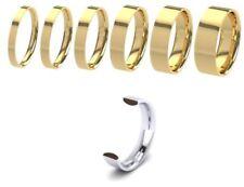 Anillos de joyería alianza de oro amarillo de 9 quilates