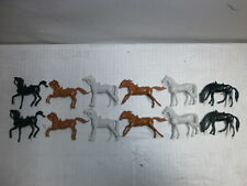 Convolute 12 Merten Plastic Figures Blanks Horses Wild West 4cm