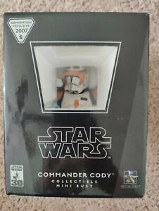 GENTLE GIANT 2007 STAR WARS CONVENTION COMMANDER CODY MINI BUST 2013/3500