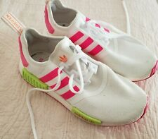 Adidas Nmd 1 white neon pink and light green Art Ee4401 woman size 7.5