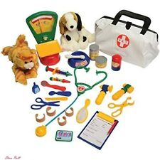 Pretend Doctor Kit Toys Play Veterinarian Hospital Animal Stuffed Puppy Kitty