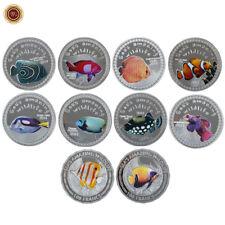 WR 10PCS 2014/2015 Burundi Uncirculated Silver Coin Sea's Amazing Wildlife Set