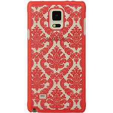 For Samsung Galaxy Note 4 TPU LACE GUMMY Hard Skin Case Phone Cover Accessory