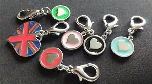 MIRAGE HEART DOG CAT COLLAR TAGS  CHARMS BAGS n ZIPS TOO! UNION JACK 2 FOR £5