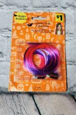 Discontuned Girls Halloween Costume Dress Up Hair Extensions Purple Pink