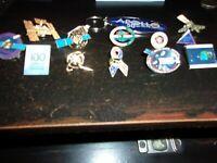 Space  Lapel Pin Lot of 13 diff pins Globalstar DSCS Delta NRO Satellites Apollo