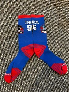 LAWRENCE LT TAYLOR NEW YORK GIANTS DRI FIT HALL OF FAME SOCKS TOP OF THE LINE