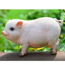 Pink Realistic Pig Animal Resin Craft Ornament Handcraft Home Garden Decor