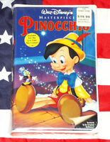 NEW Pinocchio (VHS, 1940) Walt Disney Masterpiece Video Rare SEALED