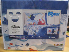 NEW Jumping Beans Disney Finding Dory Microfiber Sheet Set Twin 3 piece