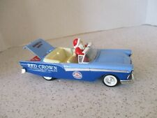 VINTAGE RED CROWN 1957 FORD CONVERTIBLE DIECAST CAR WITH SANTA, LIBERTY CLASSICS