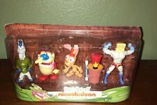 REN AND STIMPY COLLECTOR FIGURES SET MR. HORSE LOG POWDERED TOASTMAN NICKELODEON
