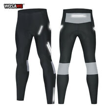 Mens Cycling Tights Padded Compression Road Bike Trousers Leggings Long Pants