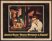 "Poster Lobby Card Rebel without a Cause 1955 11""x14"" Fine 6.5 James Dean"