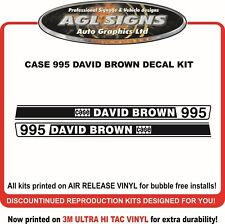 CASE 995 DAVID BROWN Reprodction Decal Kit