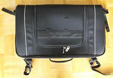 Black Harley Davidson Branded Nylon Motorcycle Saddlebag w/ Attached Rain Cover