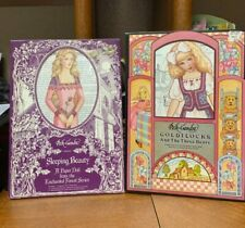 New ListingLot of 2 Peck-Gandre Goldilocks & Sleeping Beauty Paper Dolls Uncut