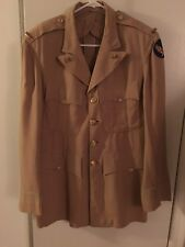 Ww2 Usaaf Suntan Officers Jacket With Felt Patch And 2nd Lt Bars Size 42