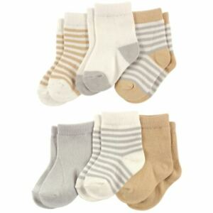 Touched By Nature Organic Cotton Socks, 6-Pack, Neutral